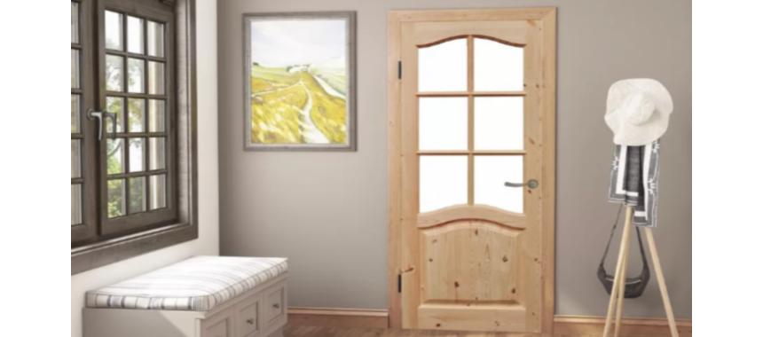 Межкомнатные двери из сосны без отделки