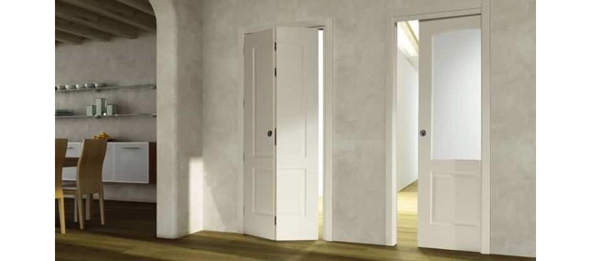 Ламинированные складные двери