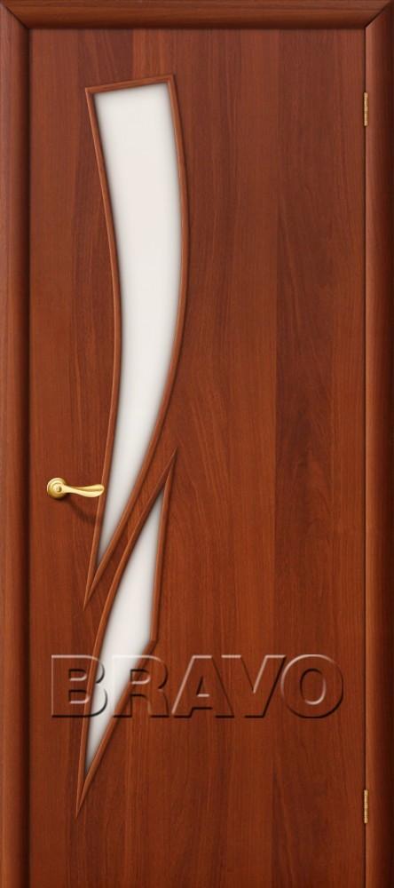 Межкомнатная ламинированная дверь 8С итальянский орех