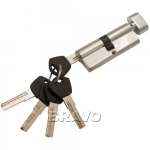 Цилиндр Ключ-фиксатор Avers АМ-80-С (40*40) CR Хром