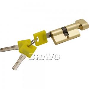 Цилиндр ключ/фиксатор Bravo ZF-60-30/30 G Золото