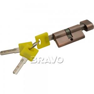 Цилиндр Bravo ключ/фиксатор ZF-60-30/30 AC Медь