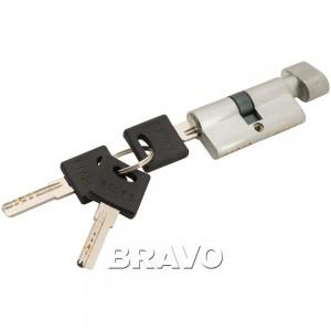 Цилиндр ключ/фиксатор Bravo ZF-60-30/30 SC МатХром
