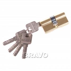 Цилиндр ключ/ключ 60-30/30 РВ Золото