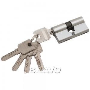 Цилиндр ключ/ключ 60-30/30 PC Хром