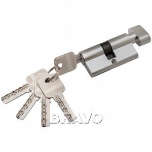 Цилиндр ключ/фиксатор 60-30/30 PC Хром