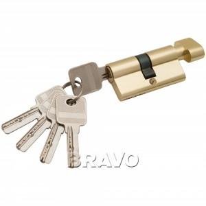 Цилиндр ключ/фиксатор 60-30/30 РВ Золото