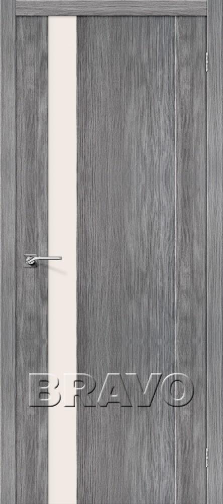 Межкомнатная дверь с эко шпоном Порта-11 ПО Grey Veralinga
