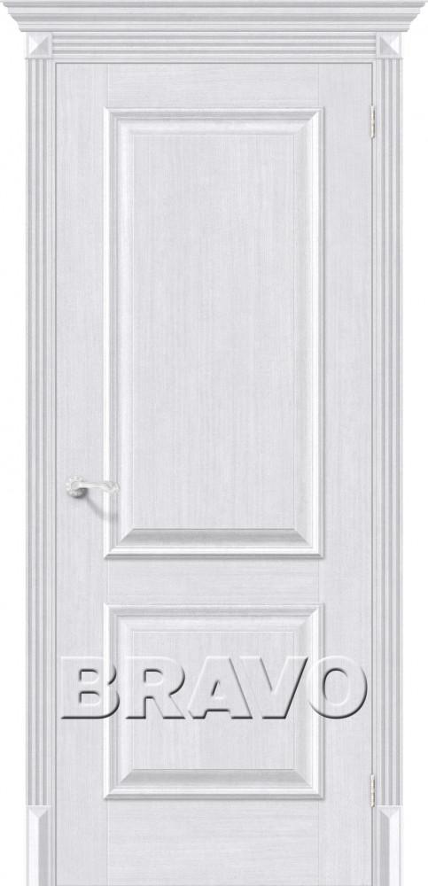 Межкомнатная дверь евро шпон Классико-12 Milk Oak